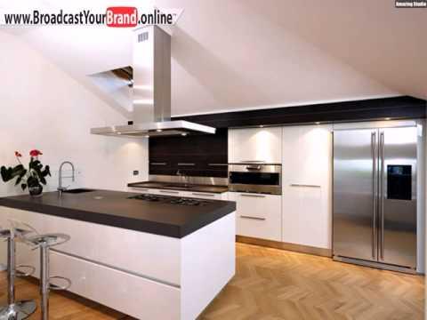 Queen Einbauküche Weiß Hochglanz Mit Kochinsel Abzugshaube