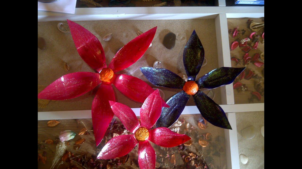 Aql como hacer flores con botellas de plastico youtube - Como hacer flores ...