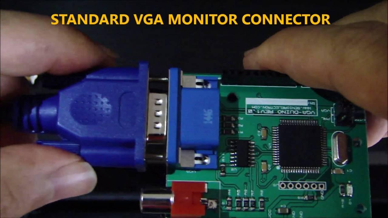 VGA DUINO - VGA Graphic Shield for Arduino from Senior Electron LLC