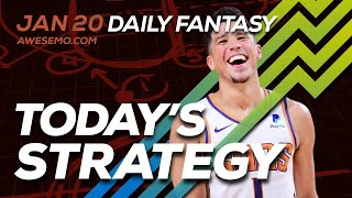 NBA DFS Strategy Afternoon Slate - Mon 1/20 - Yahoo FanDuel DraftKings FantasyDraft