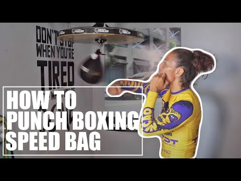 Bellator MMA Champion Cris Cyborg teaches how to punch boxing speed bag Technique Thursday