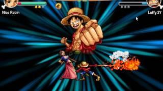 One Piece Vs Fairy Tail 1.0 #2 Luffy VS Robin !!!!!!