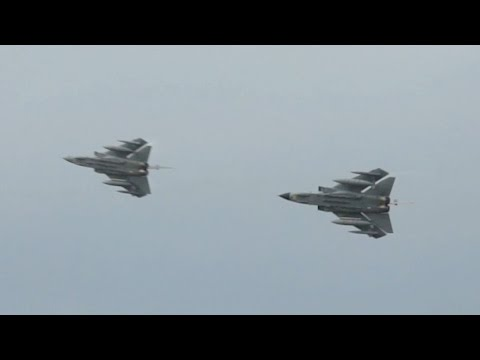 2 Panavia Tornado GR4A from the Royal Air Force RAF Role Demo at RIAT 2012 AirShow