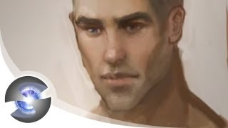 How to Draw Male Lips and Paint Skin Tones
