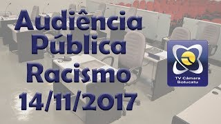 Audiência Pública 23/11/2017 - Racismo: Causas e Consequencias