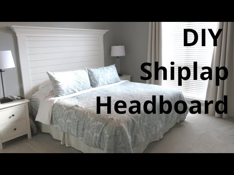 DIY Shiplap Headboard | 5 Week Countdown to Baby #3