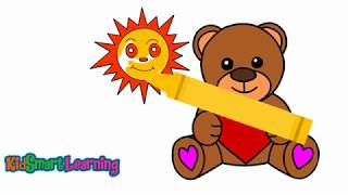 Drawing and coloring Bear for kids with KidsSmart Learning
