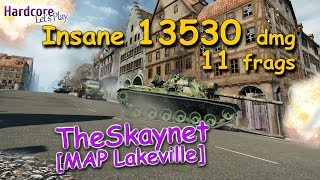 WOT: M48 Patton [TheSkaynet RU] with insane 13530 dmg/11 frags carry on Lakeville, WORLD OF TANKS