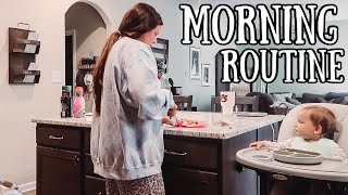 REAL TIME MORNING ROUTINE WITH A BABY | Casey Holmes Vlogs
