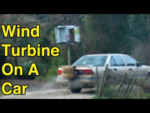 How To Destroy A Wind Turbine With A Car For Science