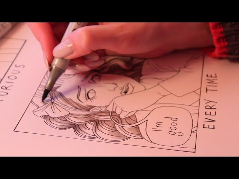 Drawing Mini Comics (ASMR pencil and marker sounds w/soft spoken)