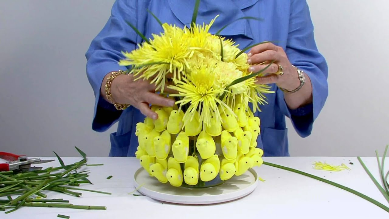 Flower Arrangements Easter Peeps In A Flower Arrangement  Youtube