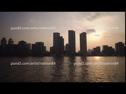 Shanghai skyline, landmarks of Shanghai with Huangpu river at sunrise/sunset in China