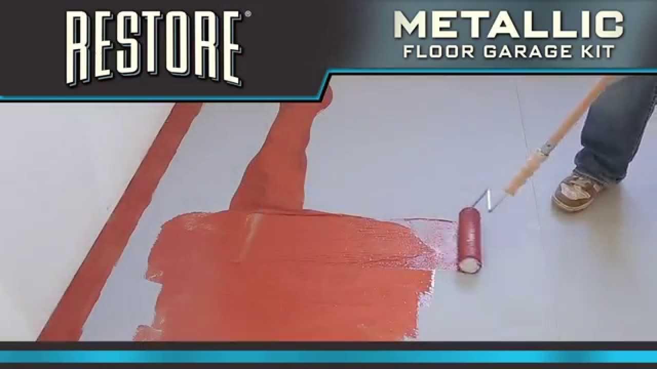 How to Video How To Apply Restore Metallic Floor Coating