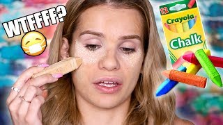 FULL FACE using CHALK! omg the end result...