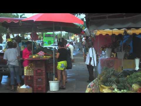 Market & Rain, Saint Anne,  Guadeloupe