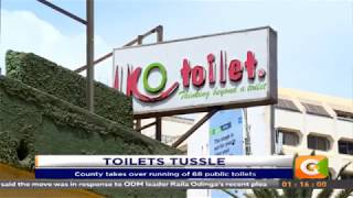 Drama as rival groups battle over contral of public toilets