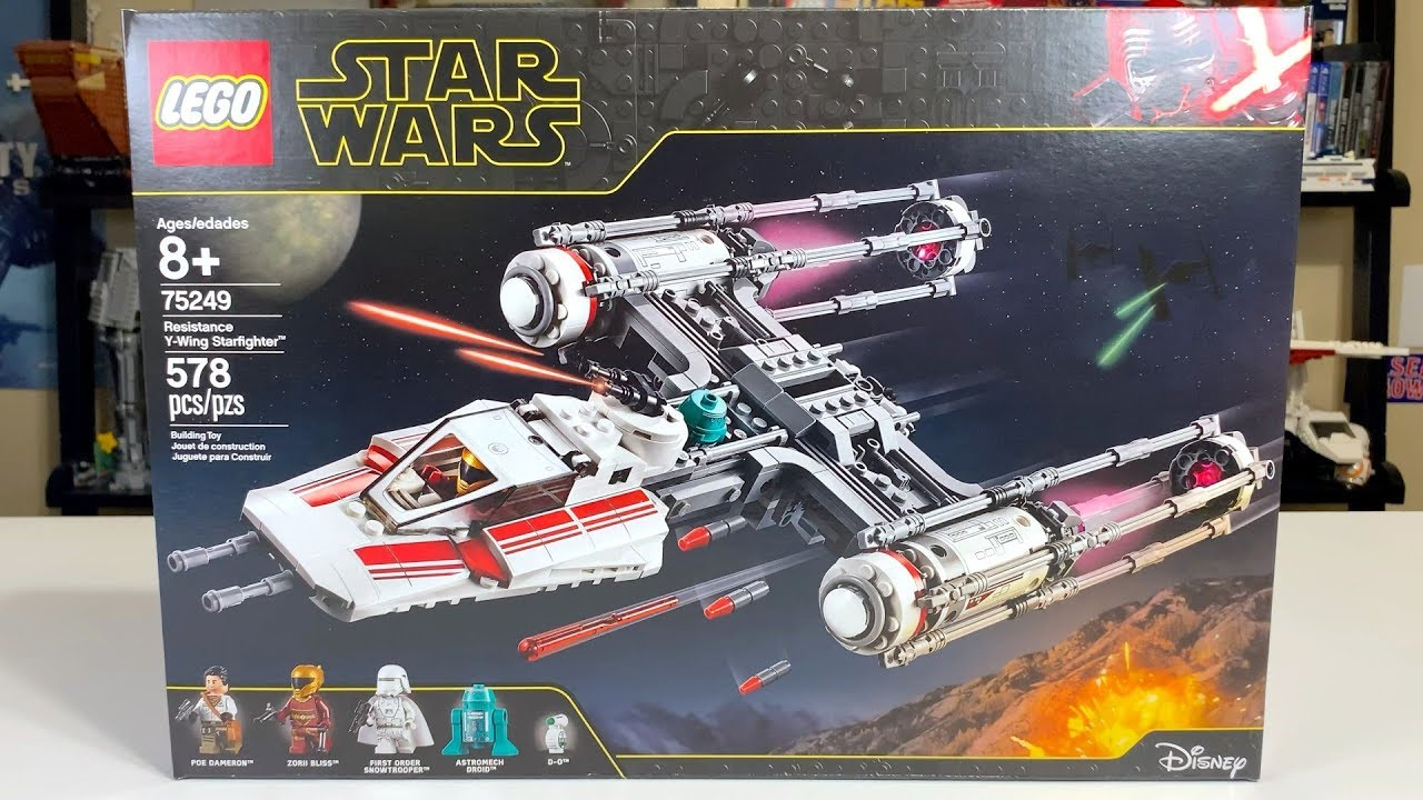 Lego Star Wars 75249 Resistance Y Wing Starfighter Review Youtube
