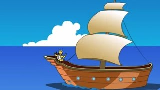 I Saw A Ship A Sailing, A Sailing On The Sea - Nursery Rhymes Songs - Baby Songs - English Rhymes