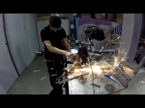 TU Sofia FSAE space-frame manufacturing