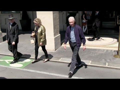 EXCLUSIVE: Charlie Watts and wife at the Meurice Hotel in Paris