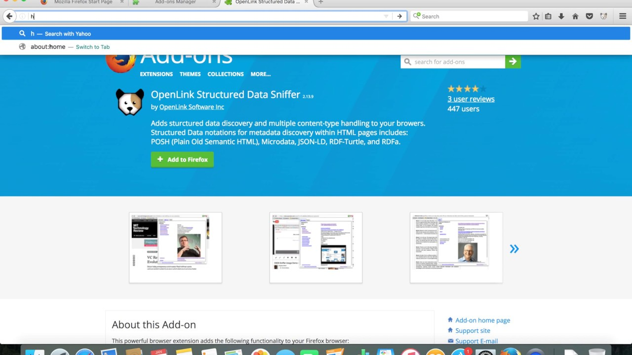 OpenLink Structured Data Sniffer Home Page