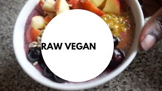 Raw Vegan Food Challenge Day #1 What I Ate  African Inspired Raw Food