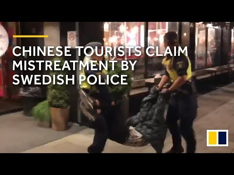 Chinese tourists claim mistreatment by Swedish police