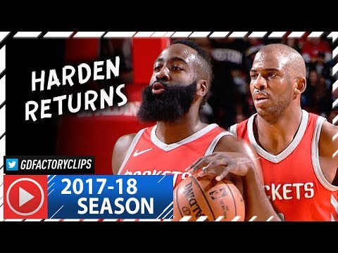 James Harden & Chris Paul Full Highlights vs Timberwolves (2018.01.18) - Harden RETURNS!