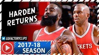 James Harden & Chris Paul Full Highlights vs Timberwolves (2018.01.18) - Harden RETURNS!