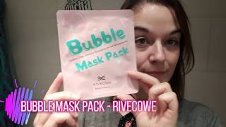 BUBBLE MASK PACK DE RIVECOWE - COSMETICA COREANA
