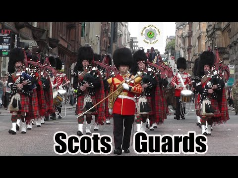1st Battalion of The Scots Guards parade Glasgow [4K/UHD]