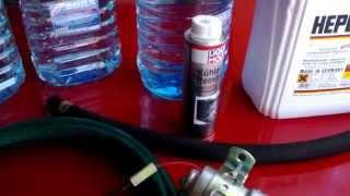 Промывка радиатора печки и системы охлаждения АУДИ 100