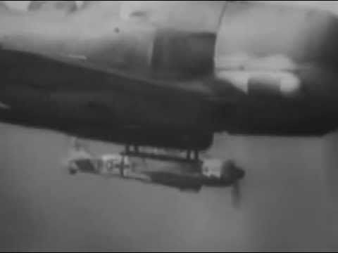 B17 Fortress under attack - Gun camera film