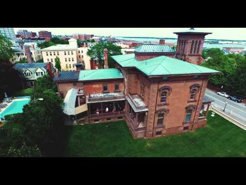 Victoria Mansion Portland Maine Drone Aerial Photography