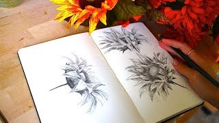 Drawing Sunflowers + Artist Rambles | Sketchbook Sunday #37