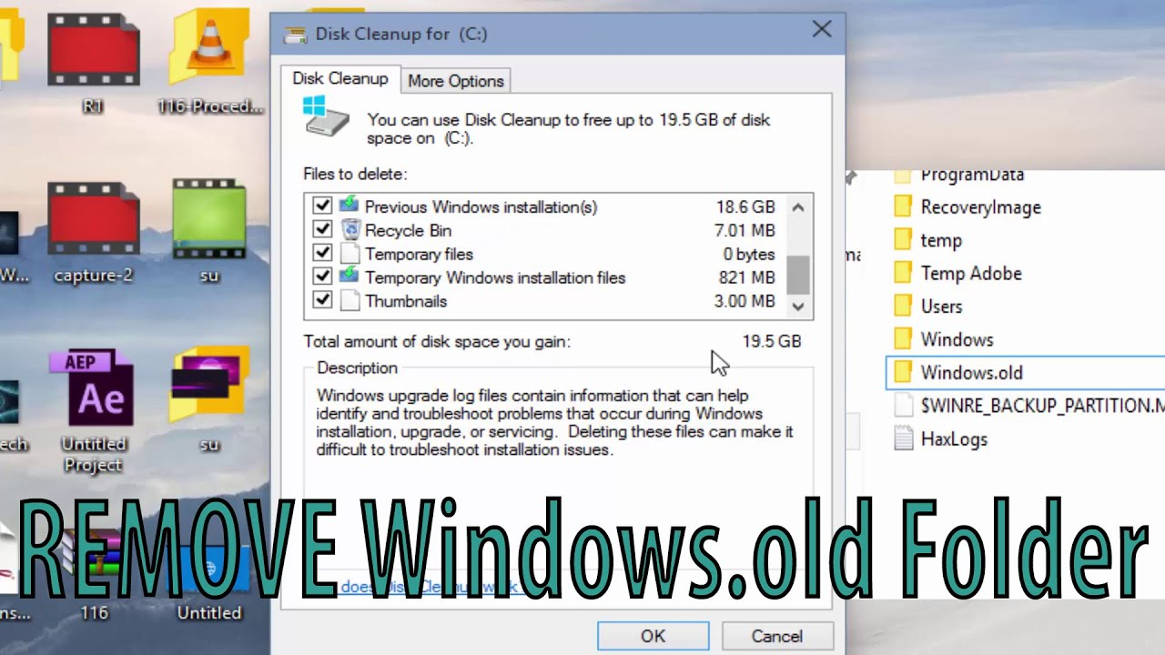 How To Delete Windowsold Folder Without Any Software In Windows 7 8 81 10