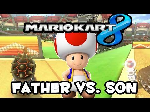 Mario Kart 8 Online [Father Vs. Son Vs. EVERYBODY] Wii U Gameplay