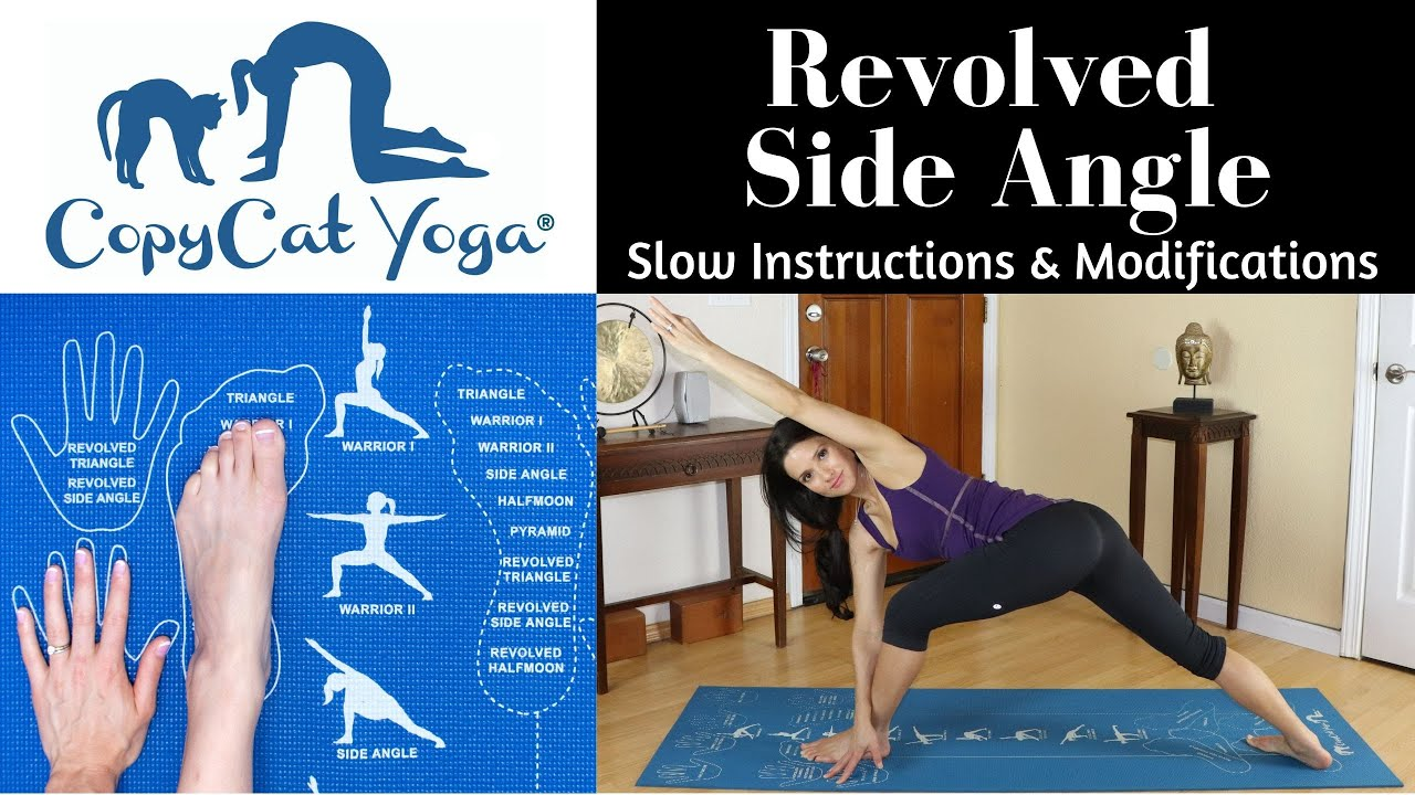 Copycat Yoga Using Revolved Side Angle Instructional And