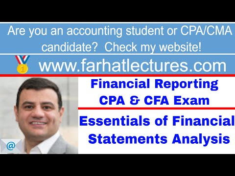 Essentials of financial statements analysis CFA exam ch 5 p 1