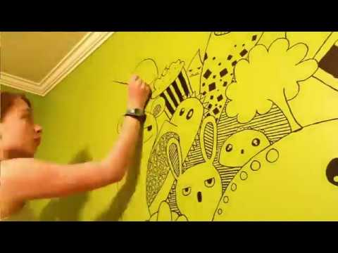 Mural Doodle Art Painting