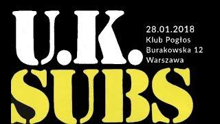 U K SUBS LIve Pogłos Sunday 28 January 2018 Warsaw PL