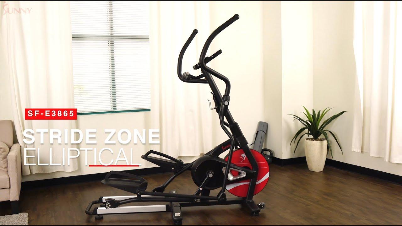 Sunny Health & Fitness SF-E3865 Stride Zone Elliptical