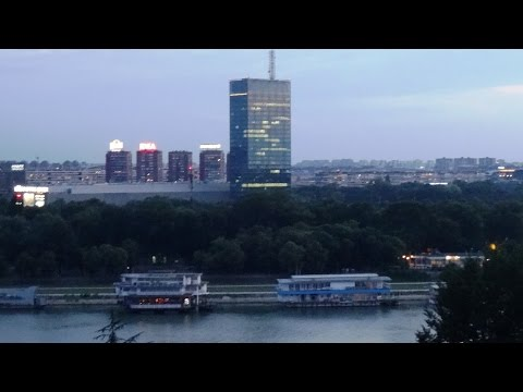 Belgrade evening view from fortress