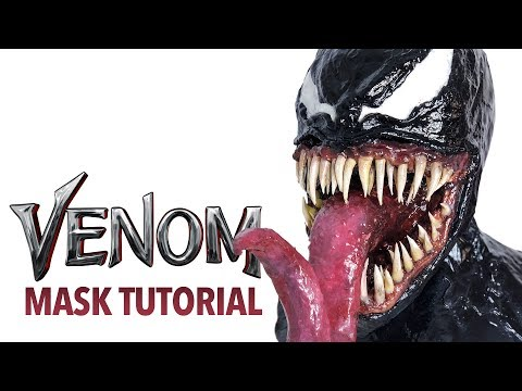 DIY Venom Halloween mask tutorial