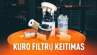 Išmontavimo Kuro filtras AUDI - vaizdo vadovas