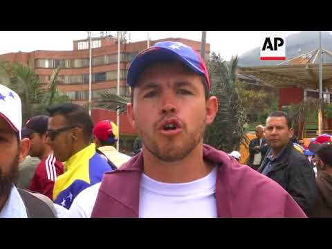 Venezuelans in Peru and Colombia protest presidential election