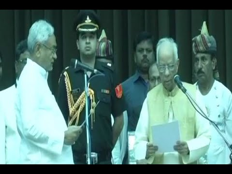 Patna: Nitish Kumar sworn-in as Chief Minister of Bihar for the sixth time