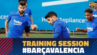 Last workout ahead of Valencia match with Neto back in the squad