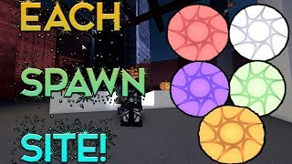 EVERY SPAWN SITE LOCATION TUTORIAL! (Roblox Parkour map expansion!)